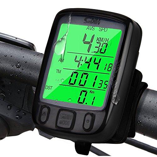 Fahrradcomputer Kabellos, Infreecs Fahrrad Computers Große LCD Hintergrundbeleuchtung Motion Sensor Drahtlos Wasserdicht Tachometer Wireless Fahrradtacho Drahtloser für Radsport Realtime Speed Track