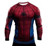 Samanthajane Clothing - T-shirt - Uomo, Spiderman Black Long sleeve, Medium