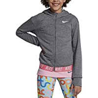 Nike G NK Dry Hoodie FZ Studio Chaqueta, Niñas, Gris (Carbon Heather/Cool Grey/White), M