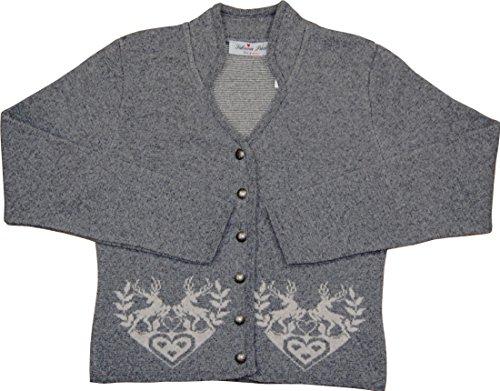 Sabrina Prexl Damen Trachten Strickjacke Gina in verschiedenen Ausführungen, Größen:54;Farben:grau