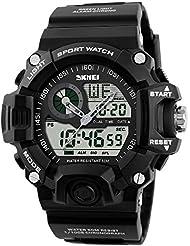 Hommes Sport Militaire Décontracté Montre LED numérique multifonction montre-bracelet résistant à l'eau