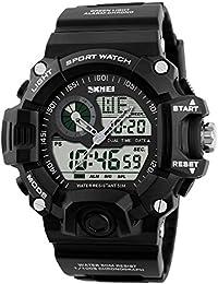 Hommes Sport Militaire Décontracté Montre LED numérique multifonction montre -bracelet résistant ... 800d36fa948