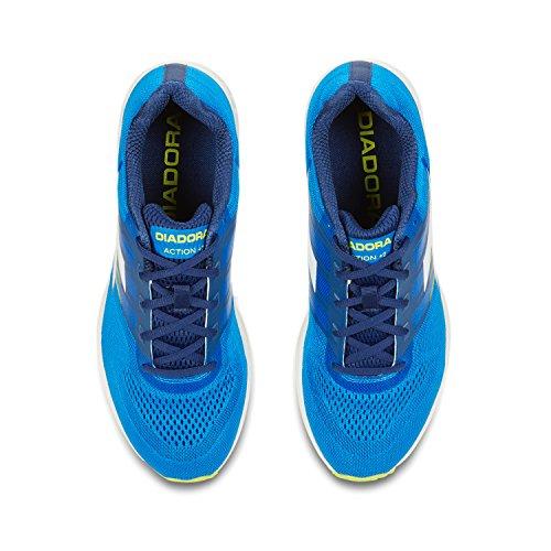 Diadora Action +2, Chaussures de Running Compétition Homme C1551 - BLEU BELL-BLANC