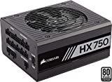 Corsair HX750 Alimentatore PC, Completamente Modulare, 80 Plus Platinum, 750 W, EU