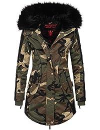 b914488855ee Marikoo Designer Damen Winter Parka Warme Winterjacke Mantel Jacke B372
