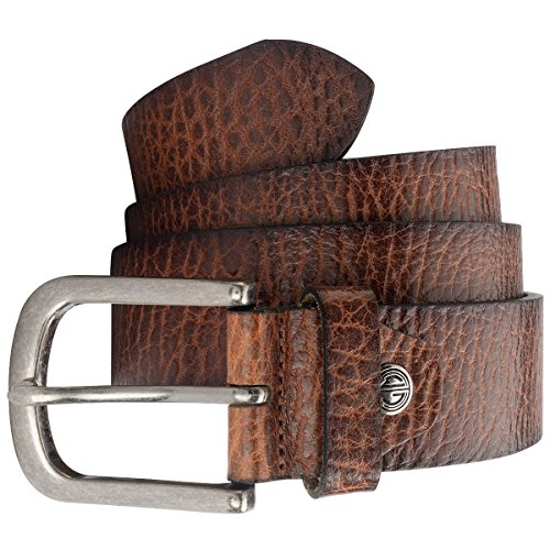 Lindenmann Mens Leather Belt/Mens Belt cognac