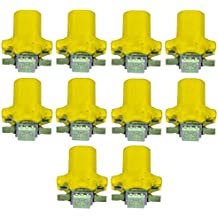 AERZETIX: 10 x Bombillas T5 12V LED SMD para salpicadero Luz amarillo