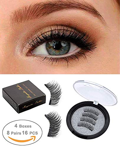 681e6be84fd ROWNYEON Magnetic Eyelashes Dual Magnetic False Eyelashes - Ultra Thin 3D  Fiber Reusable Best Fake Lashes