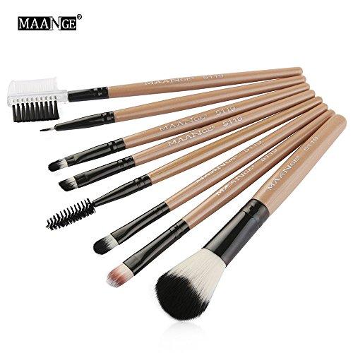 Eaylis Pinceaux Maquillages Yeux Fond De Teint Real Techniques Highlighter 8Pcs Maquillage CosméTique Pinceau Fard à Joues Fard à PaupièRes Kit Set Tige De Plastique En Laine De Nylon