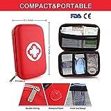 Kompakt Erste Hilfe Set mit 175 Teilen Harte Tasche- Mini First Aid Kit - Wasserdichte Medizinische Notfalltasche für Reisen, Auto, Zuhause, Büro, Camping, Arbeitsplatz, Wandern, Jagd und Abenteuer -