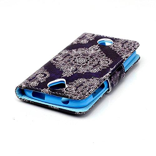 Coque pour iPhone 5 5S 5G / iPhone SE,Housse en cuir pour iPhone 5 5S 5G / iPhone SE,Ecoway Rétro motif coloré étui en cuir PU Cuir Flip Magnétique Portefeuille Etui Housse de Protection Coque Étui Ca HX-04