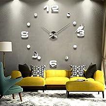 Gosear® DIY Relojes pared 3D grandes Bricolaje Moderna para Decoración del Hogar Oficina de Pared Reloj de Digital