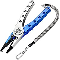 Booms Fishing X4 Alicates de Pesca de Aluminio, Con Cuerda y el Cinturón