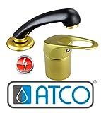 ATCO FREE gold Niederdruck Friseur Wasserhahn Waschbecken Armatur Friseurarmatur