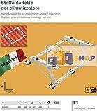 Steigbügel Regale pro-Dach Halterungen für Klimagerät 7000bis 24000BTU, Made in Italy, Cert. TUV Klima von 10° bis 40°.