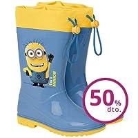 Perletti Wellies/Rain Boots for Children, shoe sizes 22to 27, Minion Design