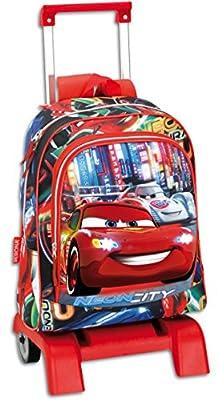 Cars - Mochila carro relieve grande, 52 x 32 cm (Montichelvo 21391) de Mattel