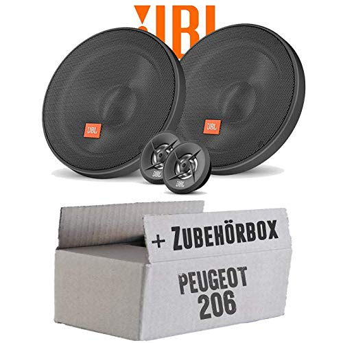 BL 16cm System Auto Einbausatz - Einbauset für Peugeot 206 - JUST SOUND best choice for caraudio ()