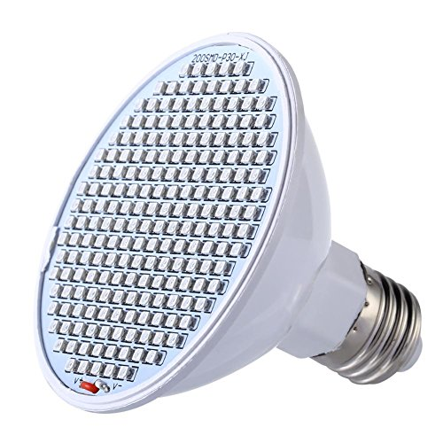 kingromargo LED SMD 24W Grow Light E27 Lámpara de Interior para plantas, Flores, vegetales