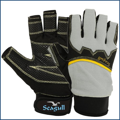 Premium Quality Extreme Grip Sailing Gloves Breathable Cut Fingers Riding Cycling Biking Skiing Fishing Sailing Running…