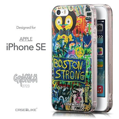 CASEiLIKE Comic Beschriftung Rosa 2912 Ultra Slim Back Hart Plastik Stoßstange Hülle Cover for Apple iPhone SE +Folie Displayschutzfolie +Eingabestift Touchstift (Zufällige Farbe) 2723