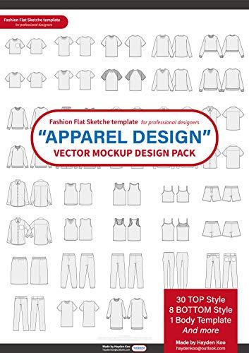 Kommerzielle Kostüm Designer - Fashion flat technical drawing for Creative