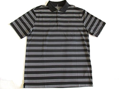 Nike Golf Tour Performance Herren Polo Neck T Shirt 643056 010 Dri-Fit Stay Cool L  - black striped
