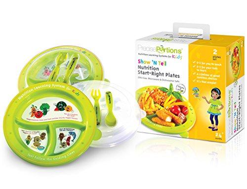 grande-portion-plaque-de-contrle-enfantsshow-n-tell-nutrition-startkit-de-droite-portions-prcislot-d