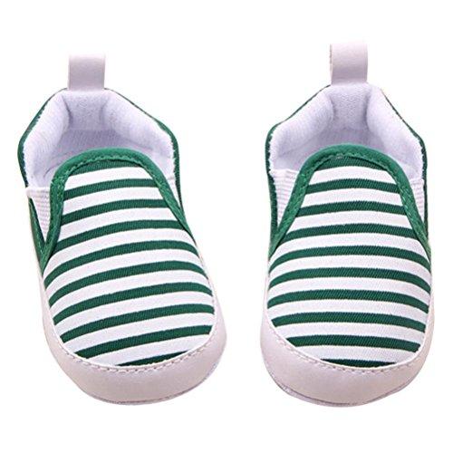 Xmansky Baby Franse Weiche Sohle Krippe Warm Gehhilfe Schuhe Grün