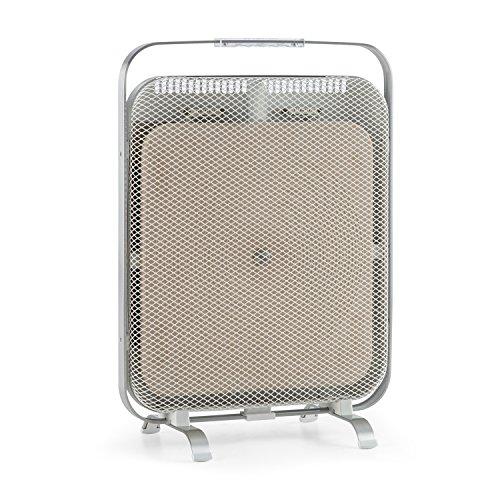 Klarstein HeatPal Marble Infrarot-Heizpanel Infrarot-Heizung Wärmeplatte Wärmespeicher lautlos sicherer Stand 1300 Watt allergikergeeignet Tragegriff modernes Design weiß