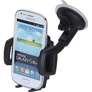 hr-imotion Universal Schwanenhals Kompakt Halterungslösung für alle Smartphones zwischen 59mm & 89mm Breite [5 Jahre Garantie | Made in Germany | vibrationsfrei] - 22010401