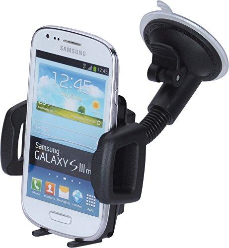 hr-imotion Universal Schwanenhals Kompakt Halterungslösung für alle Smartphones zwischen 59mm & 89mm Breite [5 Jahre Garantie   Made in Germany   vibrationsfrei] - 22010401