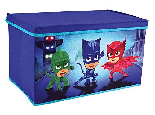 FUN HOUSE 712874 Coffre à Jouets Pliable pour Enfant, PP/Carton/Armature/Plastique, Bleu, 56,5 x 36 x 31 cm
