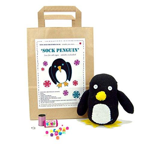 Sock Penguin Bastelset, Motiv Pinguin -