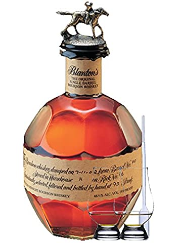 Blantons Single Barrel The Original 0,7 Liter + 2 Glencairn Gläser + Einwegpipette 1 Stück