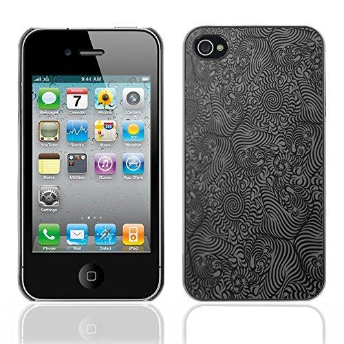 Graphic4You Curves On Canvas Digital Art Muster Design Harte Hülle Case Tasche Schutzhülle für Apple iPhone 4 und 4S Design #18