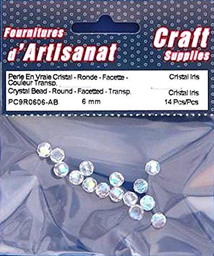 Perline di cristallo sfaccettato trasparente Cristal Iris 6mm 14pezzi arti e mestieri