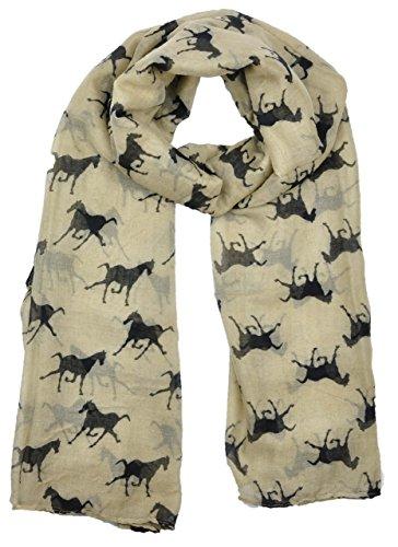 ladies-womens-horse-print-scarf-wraps-shawl-soft-scarves-sc16-brown
