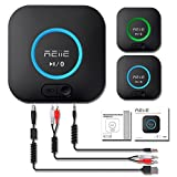 REIIE Receptor Bluetooth, Adaptador de Audio Inalámbrico Hi-Fi, B06 Adaptador Bluetooth 4.2 con 3D Surround aptX Baja latencia para Sonido en Streaming. Chip avanzado CRS Bluetooth 4.2