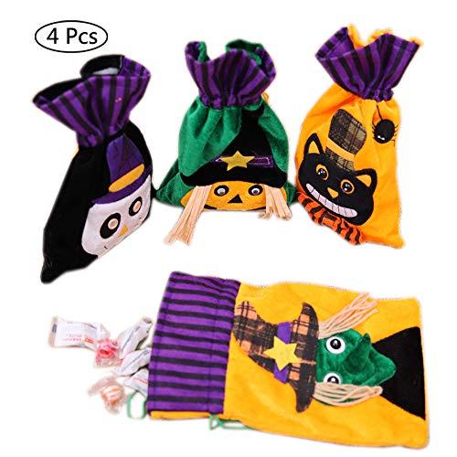 SJZC Halloween Süßigkeiten Taschen Vlies Kinder Kordelzug Geschenktüten