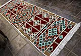 Elessar 65 x 200 cm incl. Fransen, Kelim, Teppich aus dem Orient, Läufer, orientalische Zimmer-Dekoration, Wohnung RS 1-3-23