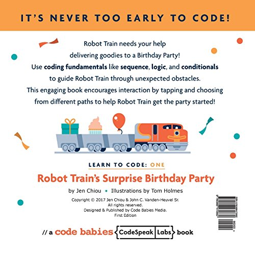 Learn to code: Robot Train's Surprise Birthday Party: Volume 1