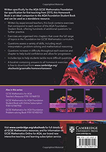 GCSE Mathematics for AQA Foundation Homework Book (GCSE Mathematics AQA)