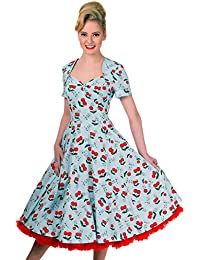 Robe motif cerise rockabilly style années 50