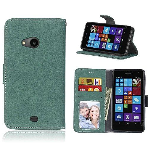cozy-hut-per-microsoft-lumia-535-verde-custodia-retro-matte-modello-design-con-cinturino-da-polso-ma