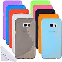 Estuche para Samsung Galaxy S6 Edge Plus incluyendo 10 Flexibles TPU Cubiertas con S Linea de diseño - Ajustado – Proteccion contra arañazos – Paño de Microfibra incluido (Samsung Galaxy S6 Edge Plus, Paquete de 10)
