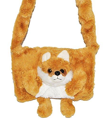 weicher Muff als 3-D Fuchs - mit extra Tasche - Kinder Kindermuff - für warme Hände - wie Handschuh / Handschuhe - Tiere - zum Umhängen für Mädchen und Jungen