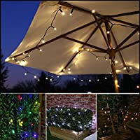 52m 500 LEDs Solar String Lights Outdoor Waterproof Fairy Light String with Solar Panel for Christmas Home Wedding Party Bedroom Birthday Decoration (Warm White Light)