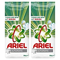 Ariel Automatic Laundry Powder Detergent, Original Scent, 9 KG, Dual Pack