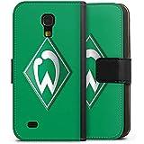 Samsung Galaxy S4 mini Tasche Hülle Flip Case Werder Bremen Fanartikel Fussball